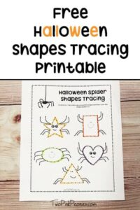 Halloween Shape Tracing Free Printable Worksheet