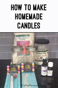 DIY Homemade Candles in Mason Jars