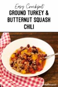 crockpot turkey chili with butternut squash